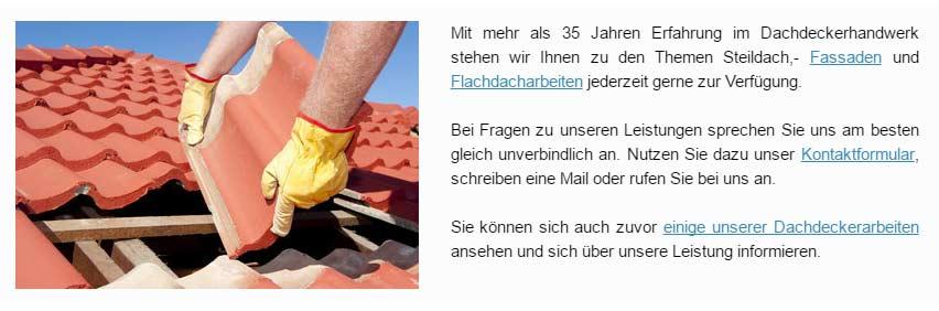 Reparaturen, Dachdecker für  Elmenhorst