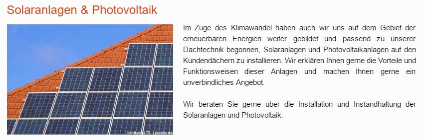 Photovoltaik, Solaranlagen in 21726 Heinbockel